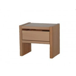 Noční stolek GASTON - smrk - 1 zásuvka