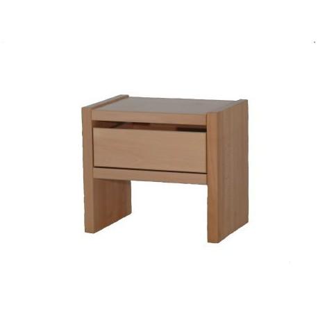 Noční stolek GASTON - jádrový buk - 1 zásuvka