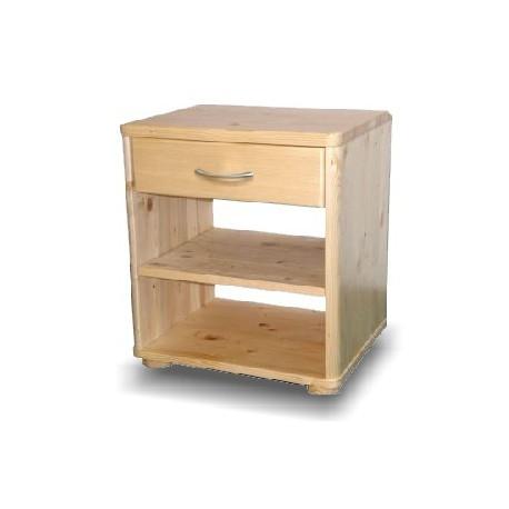 Noční stolek Roman - buk - 1 zásuvka