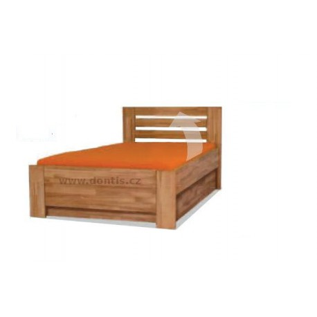 Zvýšená postel Roland 50 Plus s úložným prostorem a bočním výklopem.