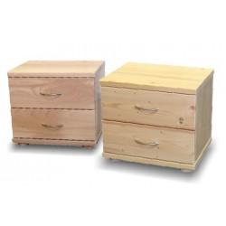 Noční stolek Jakub - smrk - 2 zásuvky