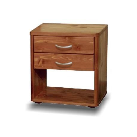 Noční stolek Roman - buk - 2 zásuvky