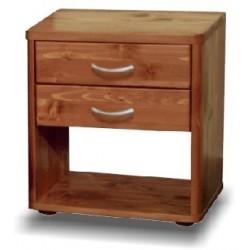 Noční stolek Roman - smrk - 2 zásuvky