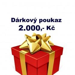 Dárkový poukaz 2 000,- Kč